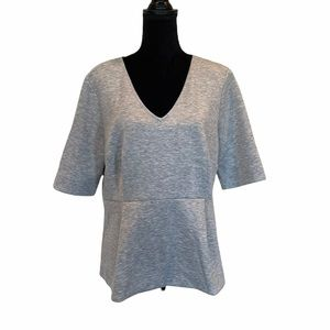 Anne Taylor grey shortsleeved top size extra large